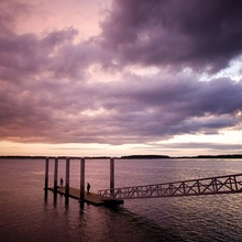 New Photo from CVB-purple sky and dock